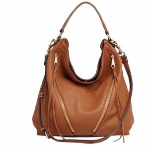 Rebecca Minkoff Moto Hobo Zip Top Leather Bag